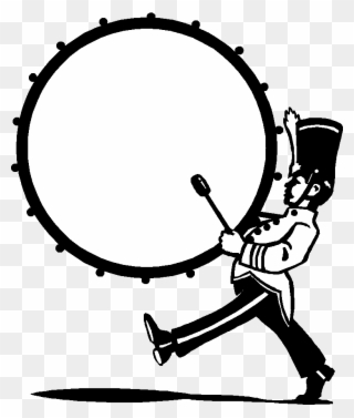 Marching Band Bass Drum Clip Art.