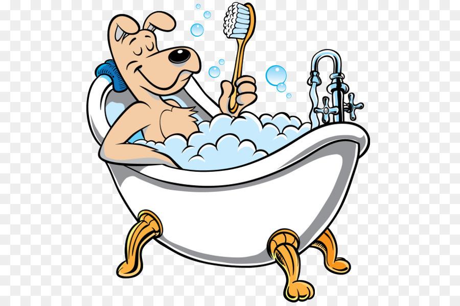 Poodle clipart bath.