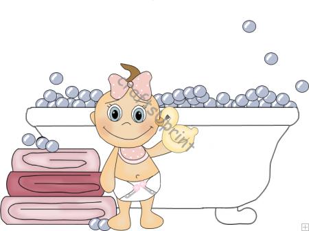 Baby Bath Clipart.