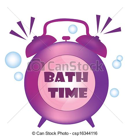 Vector Clip Art of purple clock.