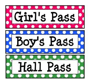 Bathroom Pass Printable.