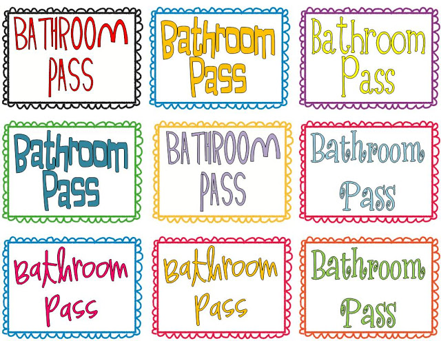 Clipart Bathroom Pass.