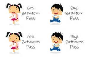 Similiar School Bathroom Pass Printable Keywords.