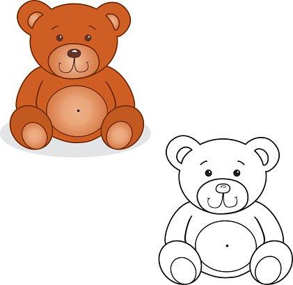 Cute Teddy Bea premium clipart.