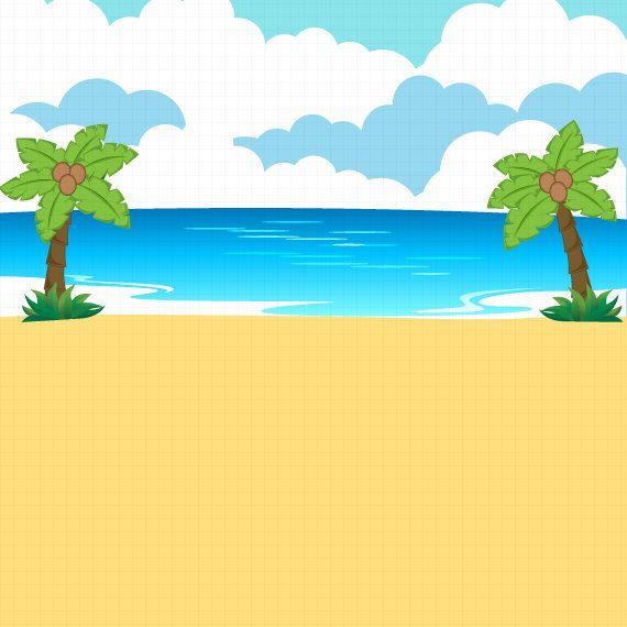 Beach clipart Summer clipart Beach party Baby Unicorn.