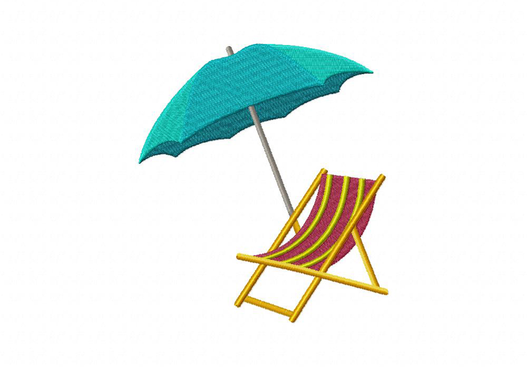 Showing post & media for Cartoon beach umbrella and chair.