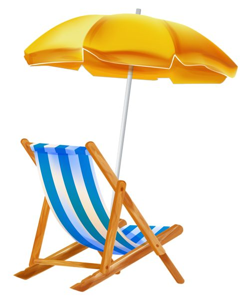 Showing post & media for Cartoon beach chair and umbrella.