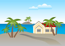 House By The Beach Clipart.