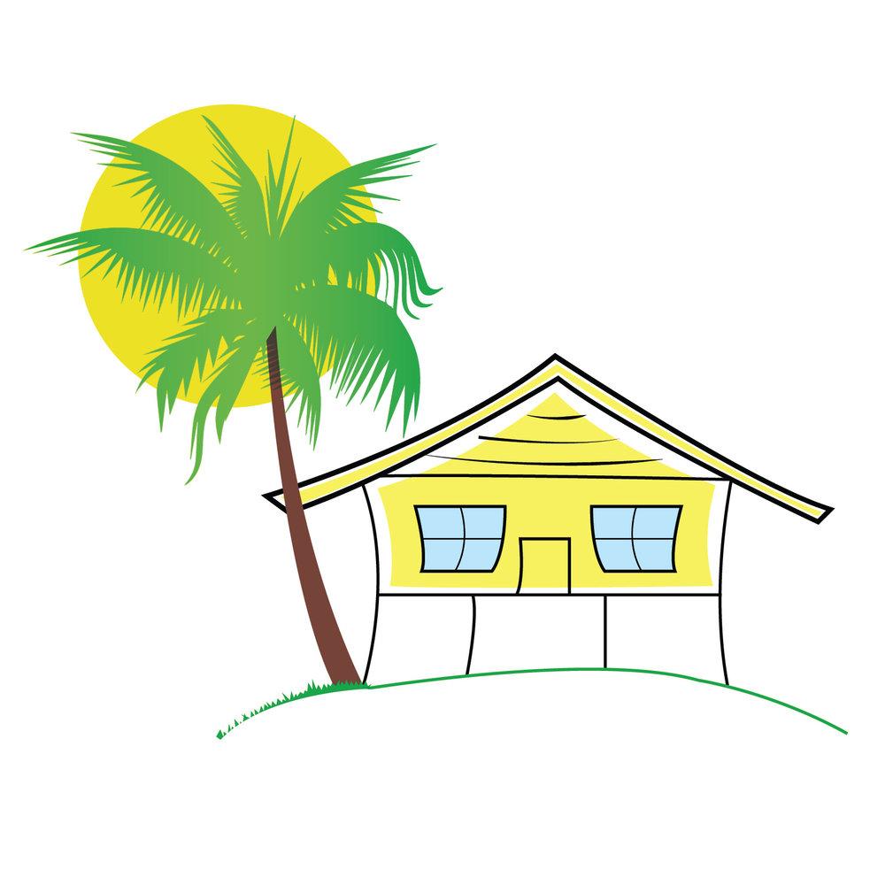 House On The Beach Clipart.