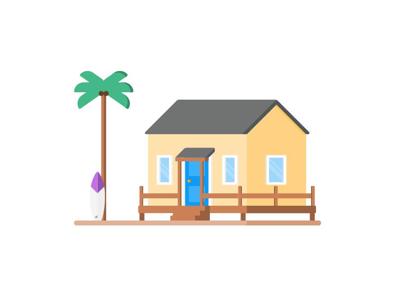 Beach House Clipart.