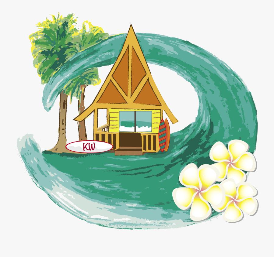 Cartoon Beach House Png , Free Transparent Clipart.
