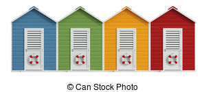 Beach huts Illustrations and Clipart. 1,646 Beach huts.