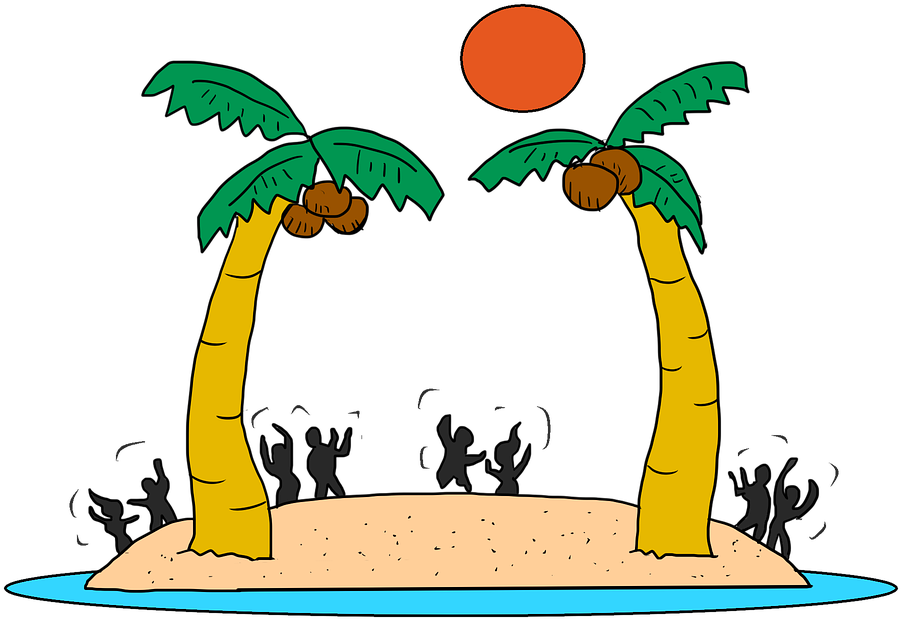 Beach Party Cartoon Free Clipart.