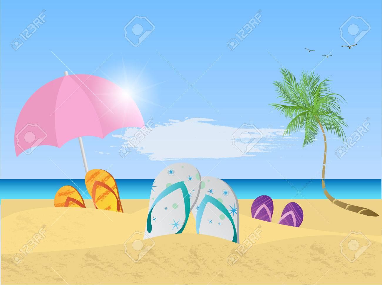 Beach Scene Illustration » Clipart Station.