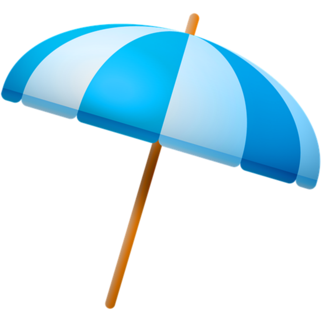 ftestickers clipart beach umbrella beachumbrella blue.