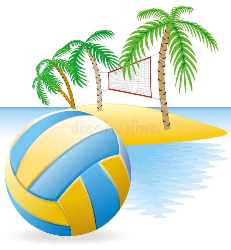 Sand Volleyball Clipart.