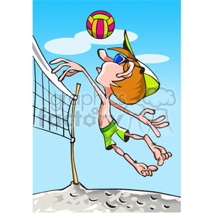 beach volleyball player clipart. Royalty.