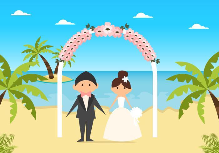Cute Flat Beach Wedding.