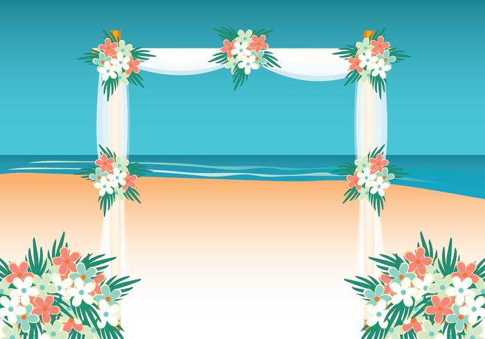 Beach Wedding Background.