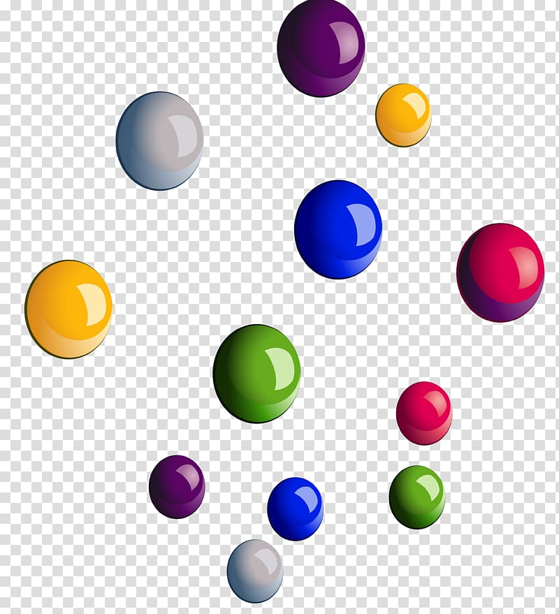 Color Bead, Colorful beads transparent background PNG.
