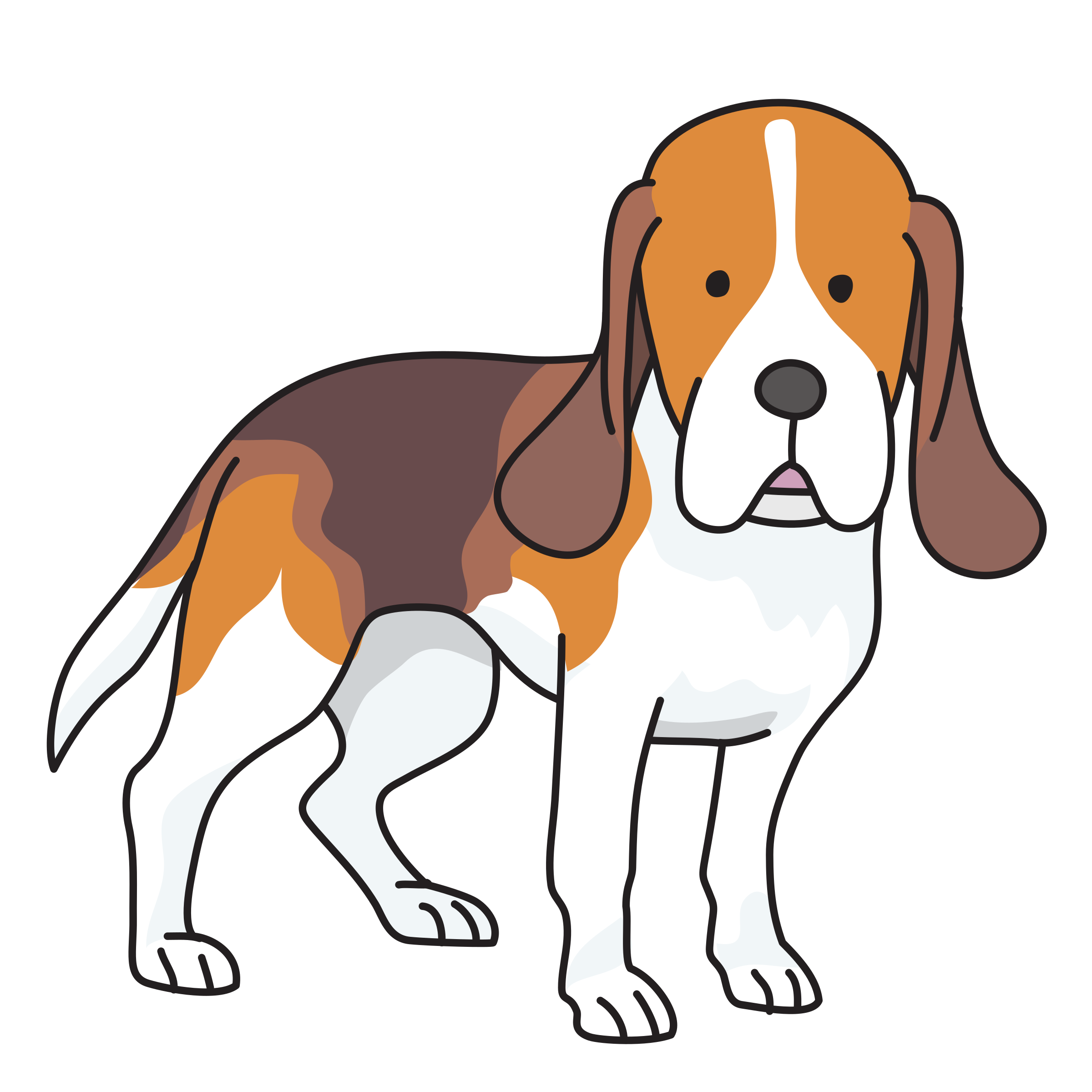 Black And White Beagle Clip Art.