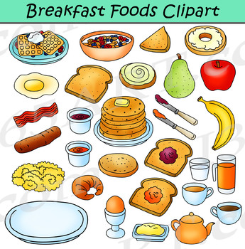Breakfast Foods Clipart.