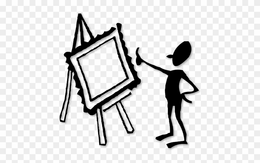 Silhouette Of A Man Painting.