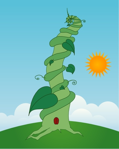 Beanstalk clip art Free vector in Open office drawing svg.