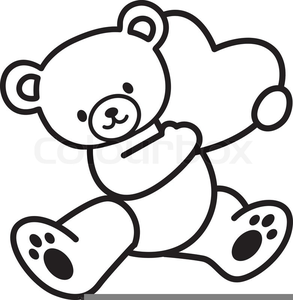 Brown Bear Black And White Clipart.