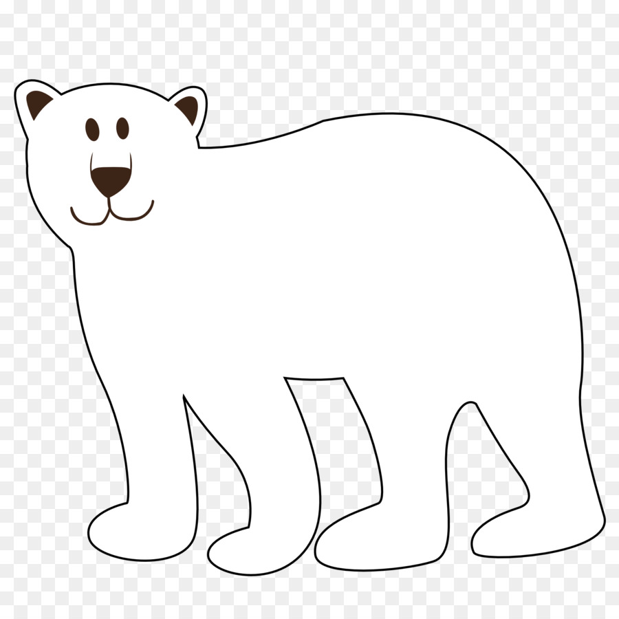 Polar Bear Black And White Clipart.