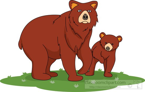 639 Brown Bear free clipart.