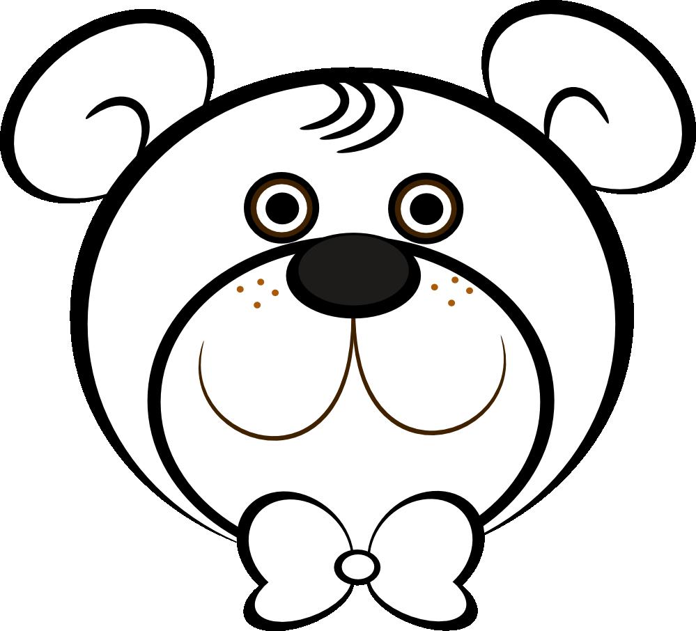 Teddy Bear Face Clip Art., Bear Face Free Clipart.