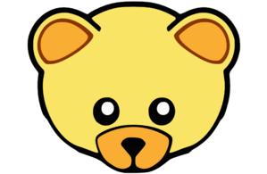 Yellow Cute Teddy Bear Face Clip Art at Clker.com.