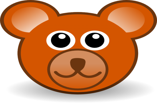 Bear Face Clip Art.