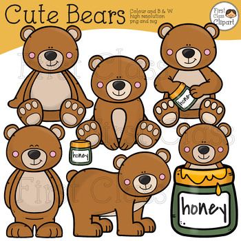 Bear Clipart, Bears Clipart, Honey Bears.