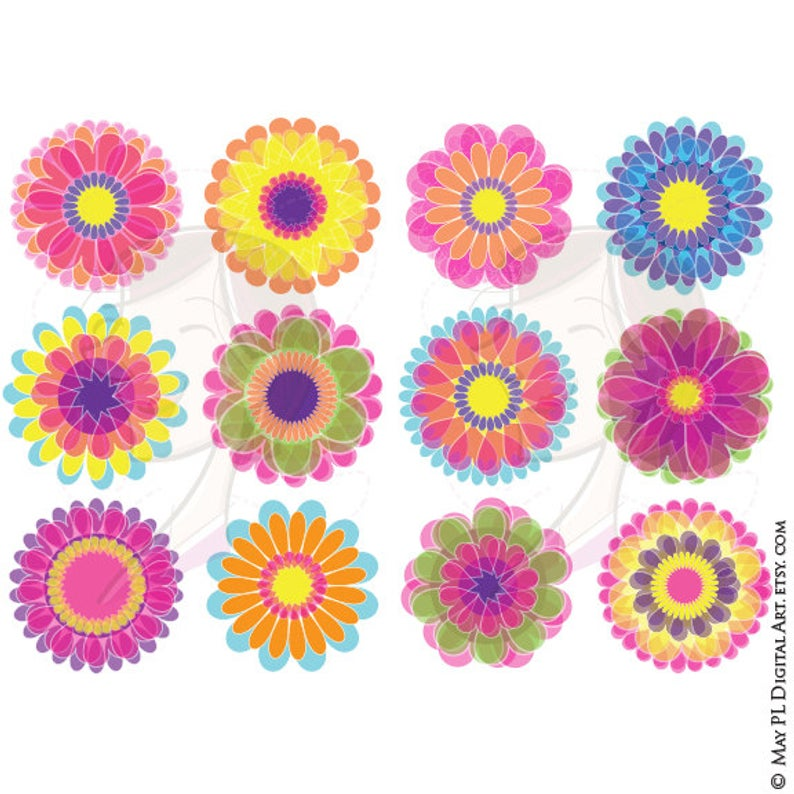 Flower Digital Clipart.