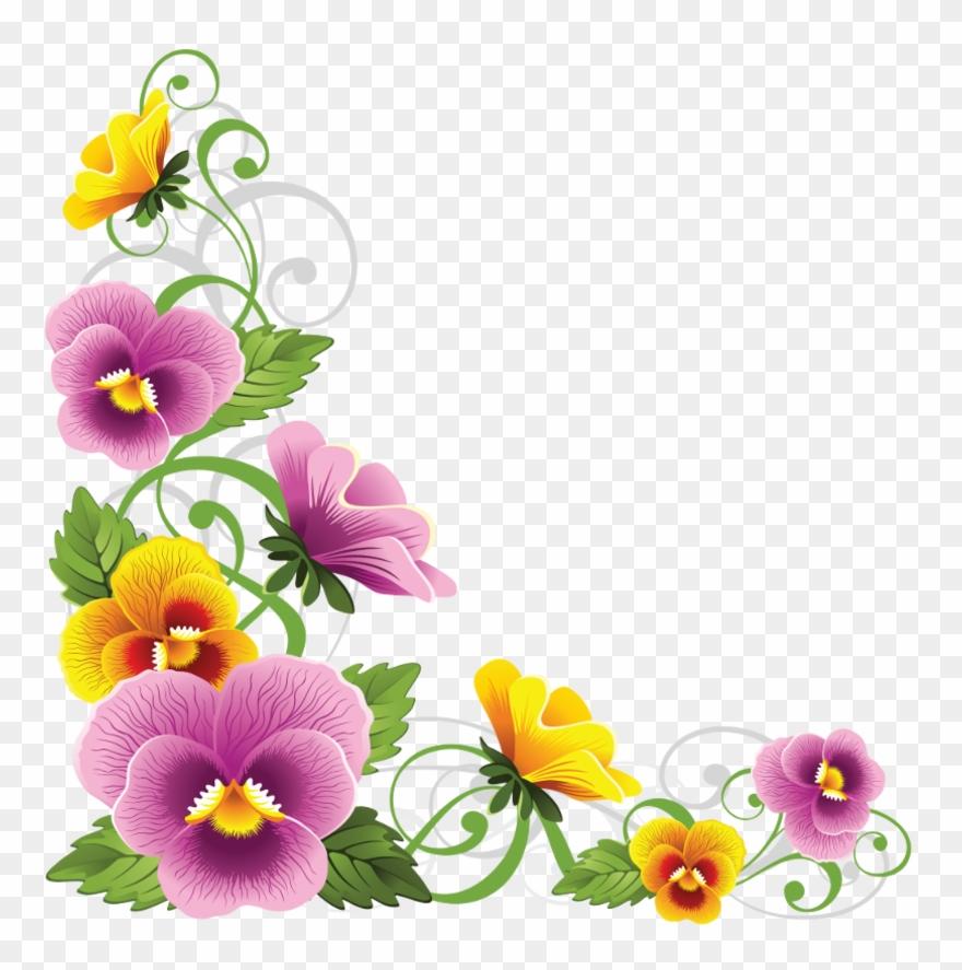 Corner Border, Decoupage, Flower Art, Beautiful Flowers,.