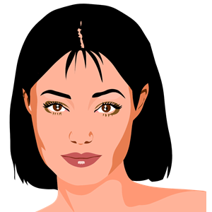 Beautiful Woman's Portrait clipart, cliparts of Beautiful Woman's.
