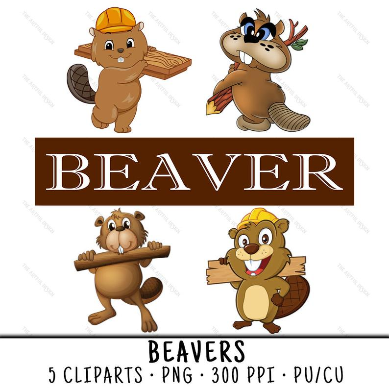 Beaver Clipart, Animal Clipart, Beaver PNG, Forest Animal PNG, Beaver Clip  Art, Animal Clip Art, PNG Forest Animal,Forest Animal.