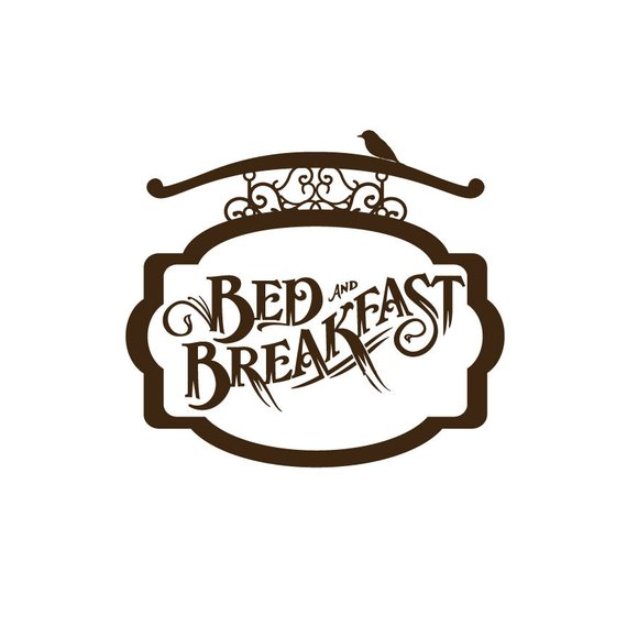 Bed And Breakfast Sign Board Wall Decal.