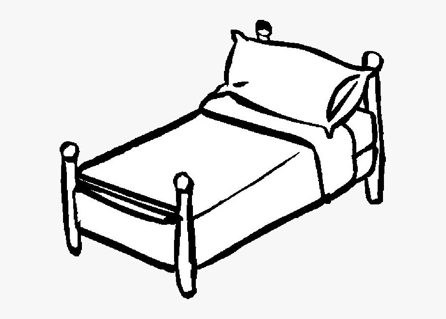 Bed Clipart Black And White , Transparent Cartoon, Free.