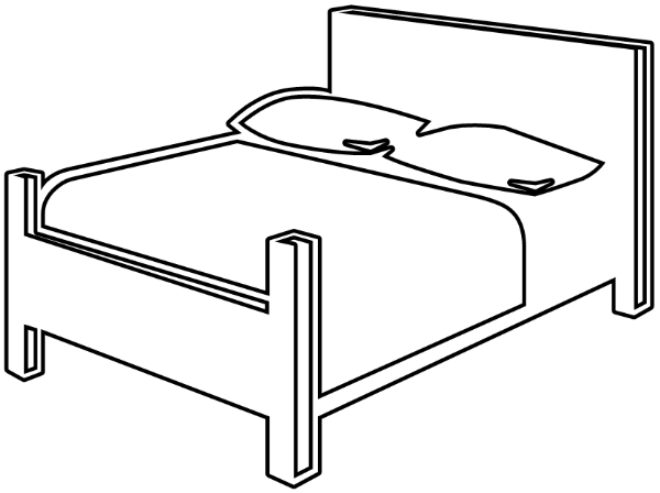 Bed black and white free black and white bedroom clipart 1.