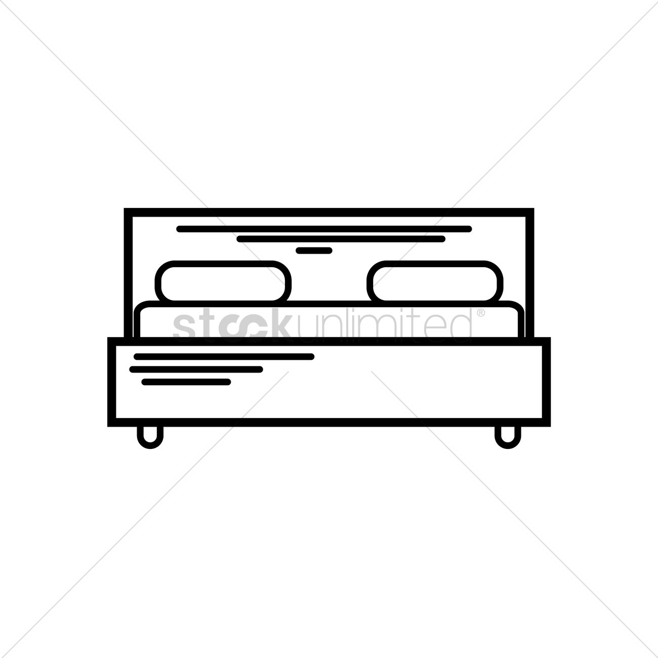 Front view of bed Vector Image.