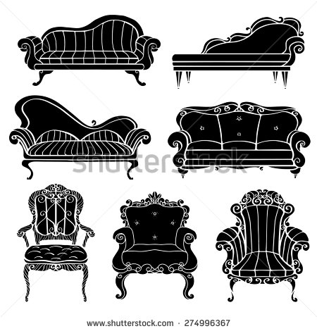 Furniture Chair Armchair Throne Sofa Couch Stock Vector 274996367.
