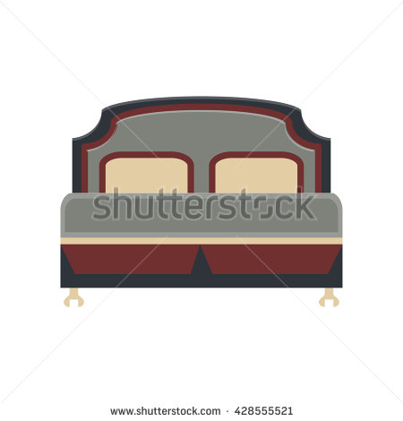 Empty Bed Isolated Stock Photos, Royalty.