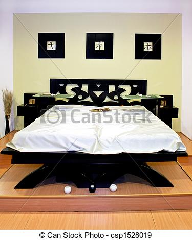 Stock Photographs of Oriental bed.