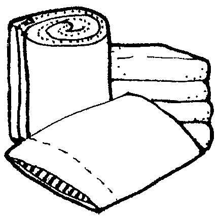 Pillow And Blanket Clipart.