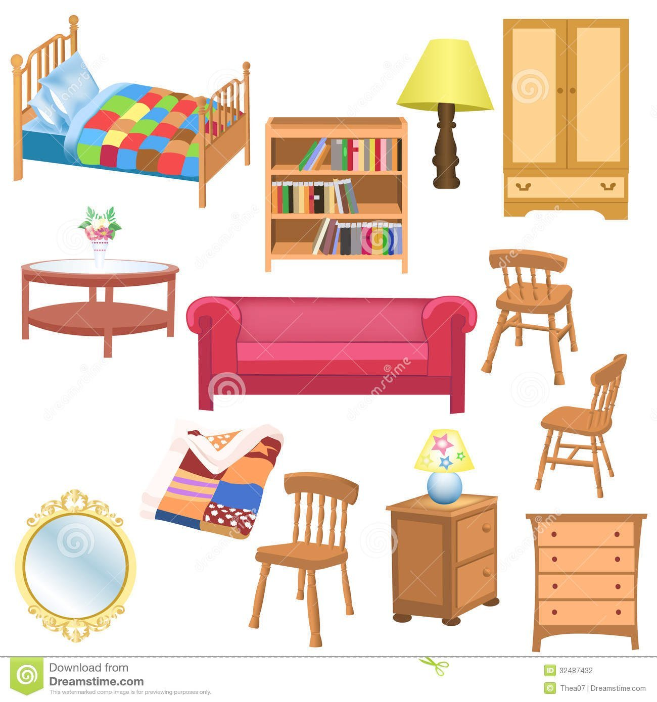 Things in the bedroom clipart 7 » Clipart Portal.