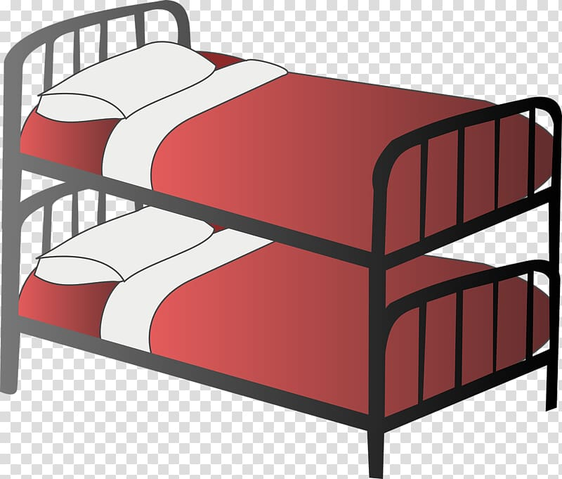 Bedroom , Bunk beds transparent background PNG clipart.