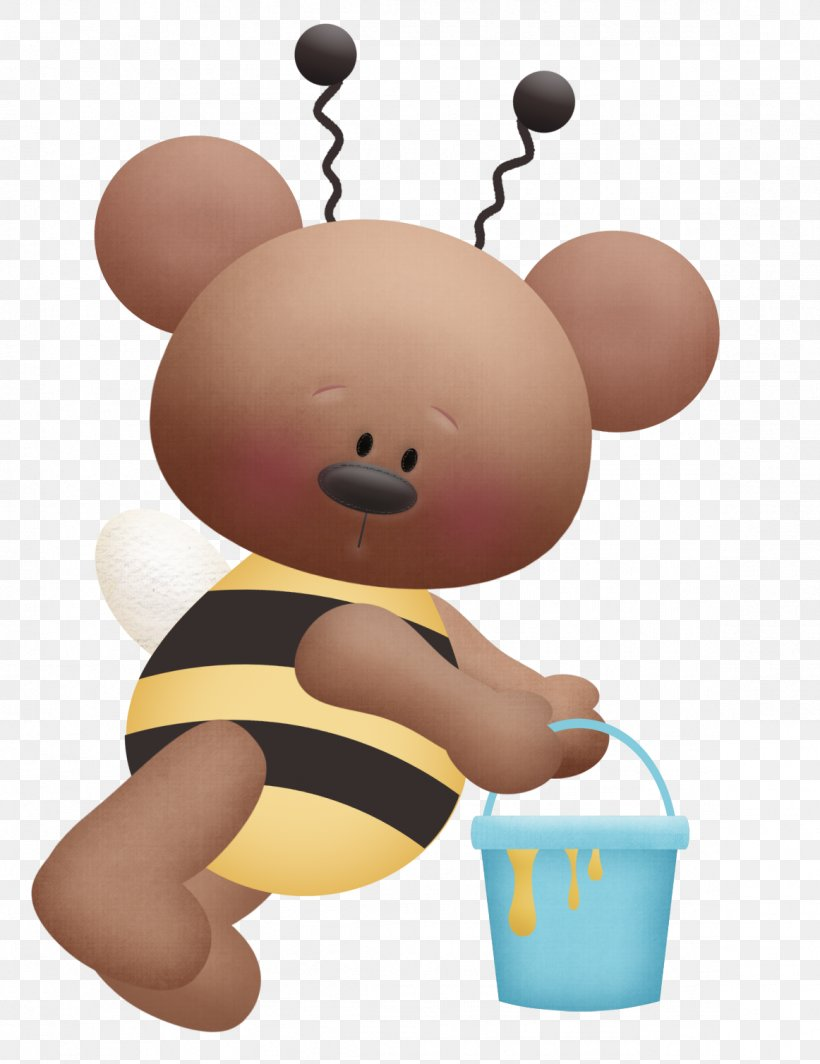 Bee Bear Drawing Clip Art, PNG, 1162x1508px, Watercolor.